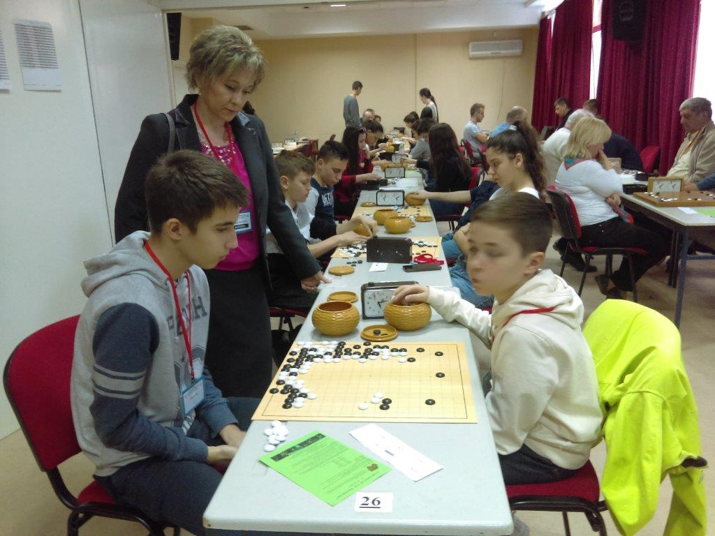 First Project Phase: Mirjana with pupils during the NIŠ OPEN 2017