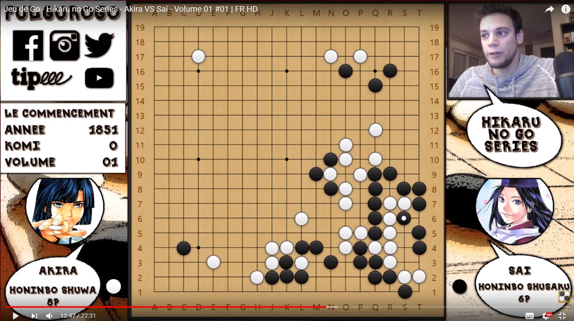 Hikaru no Go game commentaries