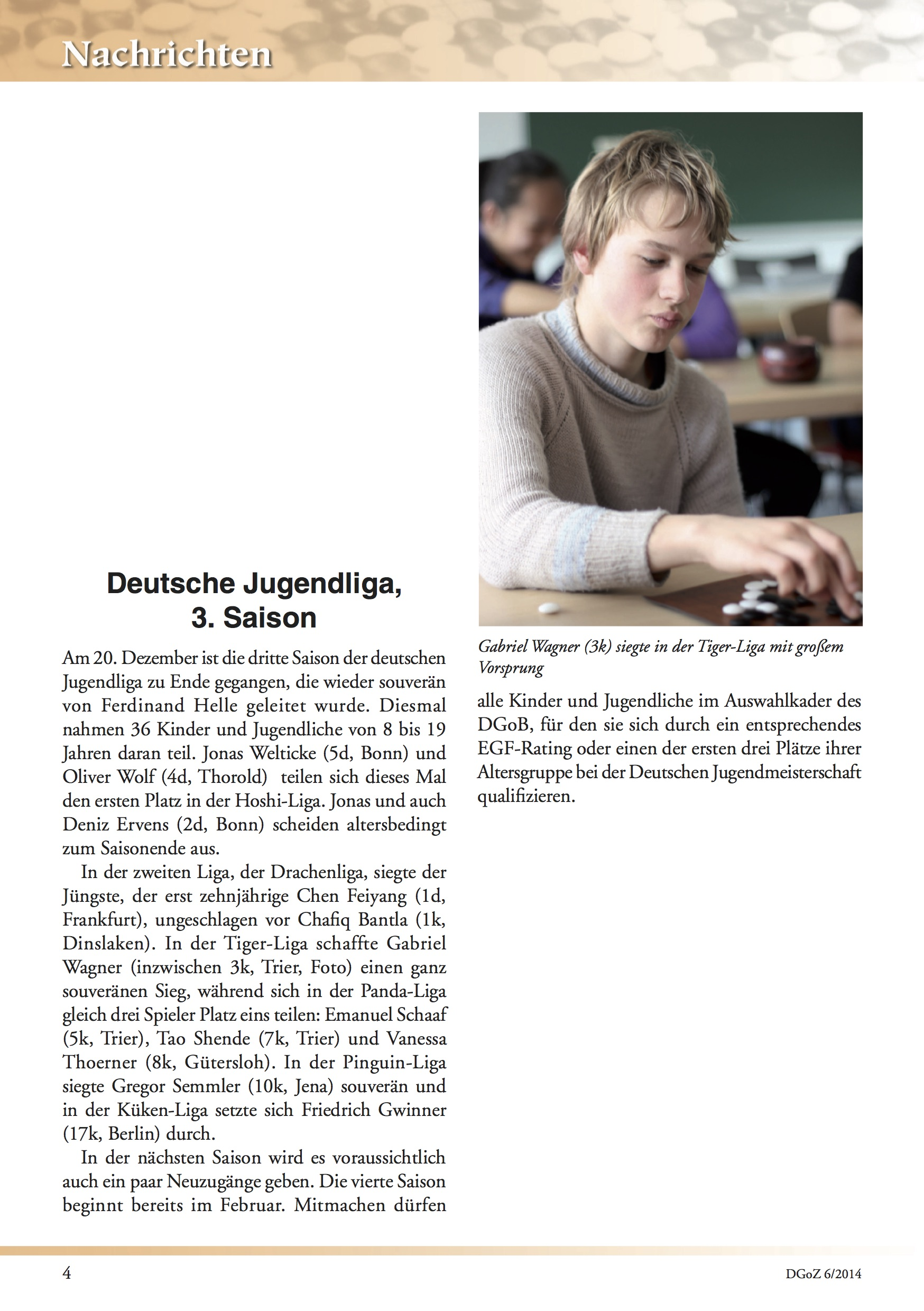 Another article in the German Go Magazine