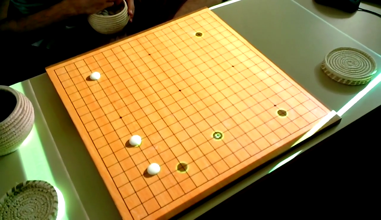 Example game (human playing white)