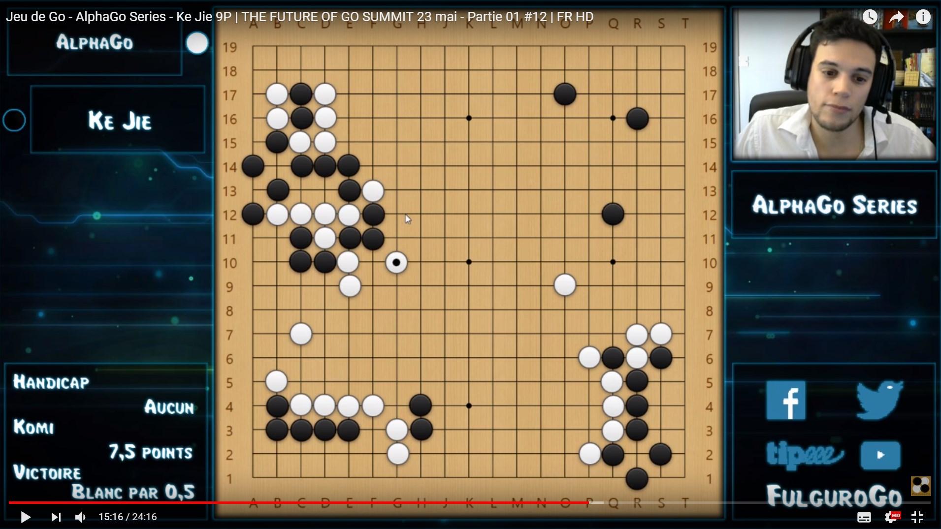 Games by AlphaGo